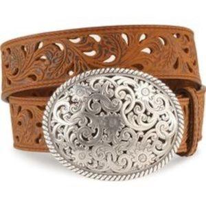 Tony Lama Pierced Filigree Belt